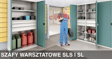 Szafy warsztatowe SLS i SL, meble warsztatowe