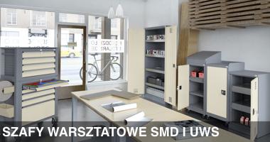 Szafy warsztatowe SMD i UWS, meble warsztatowe