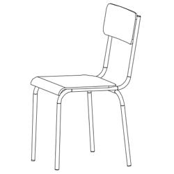 krzesło szkolne, meble szkolne
