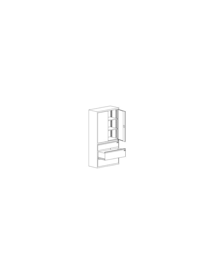 Jedno-drzwiowa szafa ubraniowa dla przedszkolaków SumS 310p st. Wymiary w mm (wys x szer x gł): 1350 x 300 x 500