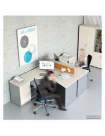 Biurko Svenbox Invest VBH026 - Wymiary w mm (szer x gł x wys): 1370 x 1000 x 758