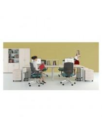 Kontener do biurka dostawny Svenbox Invest VKH23 - Wymiary w mm (szer x gł x wys): 428 x 495 x 730