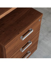 Ławka ŁO20. Stelaż metalowy, siedzisko drewniane listwy. Wymiary w mm (wys x szer x gł): 460 x 2000 x 440