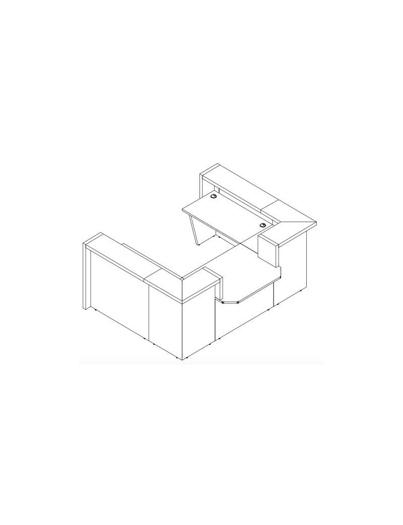 Bench (2 biurka) z regulowaną wysokością na korbkę DRIVE CTC30