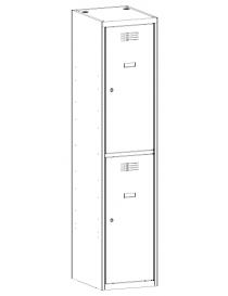Szafa 2-skrytkowa SUS 412 W...