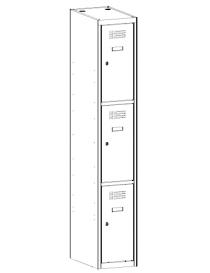 Szafa 3-skrytkowa SUS 313 W...