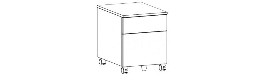 Szafki przybiurkowe (kontenerki do biurek)