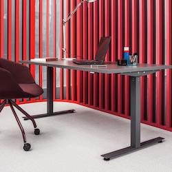 biurko z elektrycznie regulowaną wysokością
