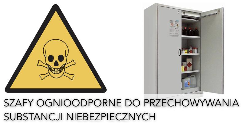 Szafy ognioodporne na materiały niebezpieczne
