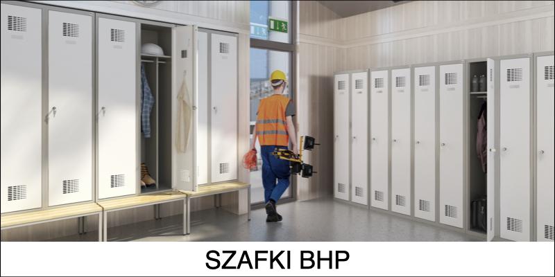 Szafy metalowe socjalne BHP ubraniowe
